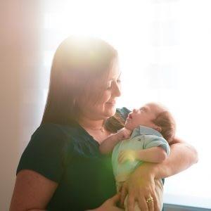 Ensaio Newborn de recém nascido Mamãe e Bebê