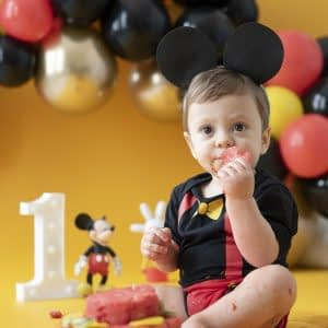 Ensaio Smash the Cake - Tema Mickey